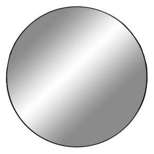 Nordic Living Černé kulaté závěsné zrcadlo Vincent 100 cm - Průměr100 cm- Hloubka move 0