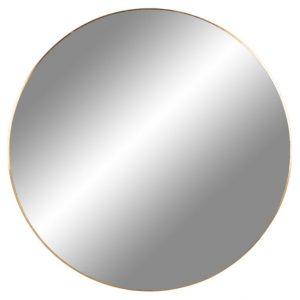 Nordic Living Zlaté kulaté závěsné zrcadlo Vincent 100 cm - Průměr100 cm- Hloubka move 0