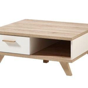 Bílý dřevěný konferenční stolek Germania Oslo 2292 80 x 80 cm - Výška33 cm- Šířka 80 cm