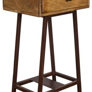 Hoorns Mangový noční stolek Trax 35 x 40 cm - Výška70 cm- Šířka 45 cm