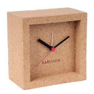 Time for home Korkové stolní hodiny Corky - Výška10 cm- Šířka move 10 cm