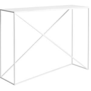 Nordic Design Bílý kovový toaletní stolek Mountain 100 x 30 cm - Šířka100 cm- Hloubka 30 cm