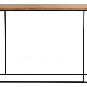 Nordic Design Dubový toaletní stolek Valter s černou podnoží 100x30 cm - Deska moveDubové dřevo- Podnož move Lakovaný kov