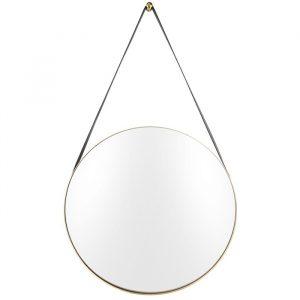 Time for home Zlaté závěsné zrcadlo Grimo 47 cm - Zrcadlo moveSklo