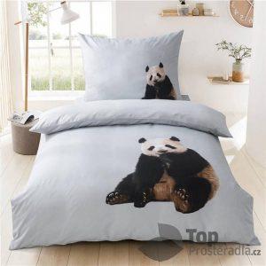 TOP 3D povlečení 140x200+70x90 Panda - -