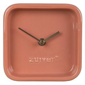 Růžové keramické stolní hodiny ZUIVER CUTE - Hloubka move6 cm- Výška move 13