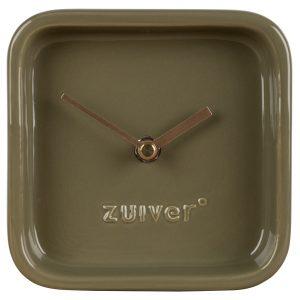 Zelené keramické stolní hodiny ZUIVER CUTE - Šířka13