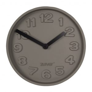 Šedé nástěnné hodiny ZUIVER CONCRETE TIME z betonu - Průměr move31