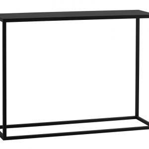 Nordic Design Černý kovový toaletní stolek Moreno 100 x 30 cm - Šířka100 cm- Hloubka 30 cm