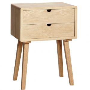 Dubový noční stolek Hübsch Dunga - Výška70 cm- Šířka 50 cm