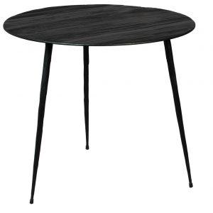 Černý borovicový odkládací stolek DUTCHBONE Pepper 45 cm - Výška40 cm- Průměr 45 cm