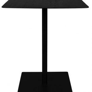 Černý borovicový bistro stolek DUTCHBONE Braza Square 70 x 70 cm - Výška93 cm- Max. nosnost move 50-150 kg (hrana a střed stolu)