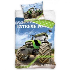 TipTrade Bavlněné povlečení 140x200 + 70x90 cm - Zelený traktor - MateriálBavlna- Rozměr 70 x 90 cm