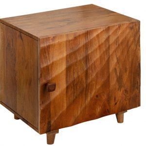 Moebel Living Masivní mangový noční stolek Remus 50 x 40 cm - Šířka50 cm- Výška 51 cm