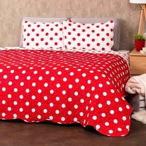 4Home Přehoz na postel Červený puntík
