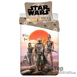 TOP Bavlněné povlečení 140x200+70x90 Star Wars Mandalorian - -