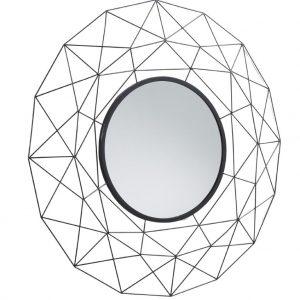 Černé kovové zrcadlo LaForma Habita 90 cm - Průměr90 cm- Hmotnost move 3