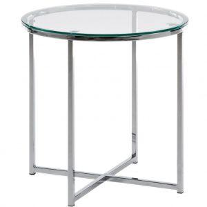 Chromový odkládací stolek LaForma Vivid 50 cm - Výška49
