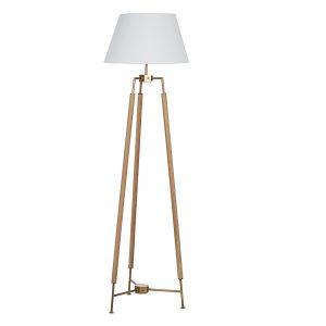 Dubová stojací lampa Bizzotto Elinor 166 cm - Šířka48 cm- Hloubka 48 cm