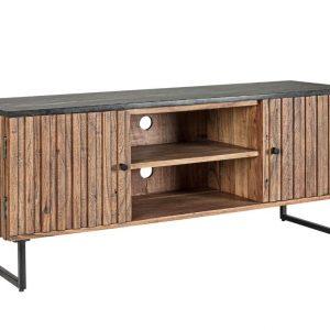 Hnědý akátový TV stolek Bizzotto Nornfolk 130 x 40 cm - Výška60 cm- Šířka 130 cm