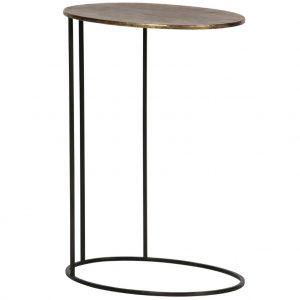 Hoorns Mosazný kovový odkládací stolek Salina 30 x 40 cm - Šířka30 cm- Hloubka 40 cm
