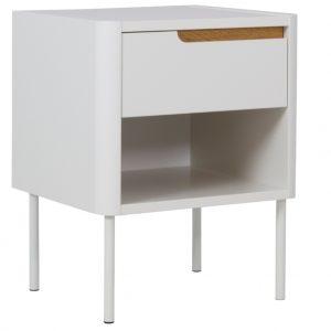 Matně bílý lakovaný noční stolek Tenzo Switch 45 x 39 cm - Výška57 cm- Šířka 45 cm