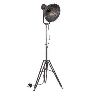 Hoorns Šedá kovová stojací lampa Ruth 120-160 cm - Výška120-160 cm- Šířka 54 cm