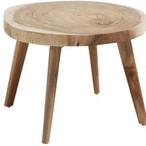 Masivní dřevěný konferenční stolek LaForma Creswell 65 cm - Výška41 cm- Průměr 65 cm