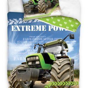 Bavlněné povlečení 140x200 + 70x90 cm - Zelený traktor - Materiál100 % bavlna- Motiv Dopravní prostředek