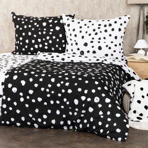 4Home Bavlněné povlečení Dalmatin černobílá