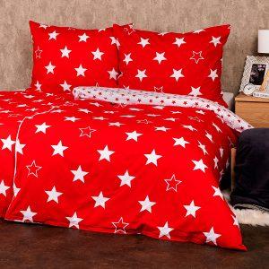 4Home Bavlněné povlečení Stars red