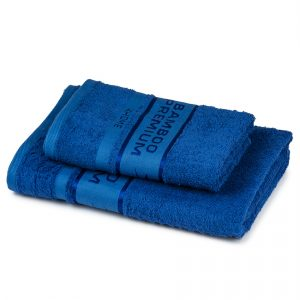 4Home Sada Bamboo Premium osuška a ručník modrá