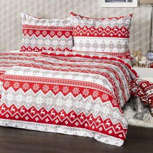 4Home Vánoční bavlněné povlečení Red Nordic