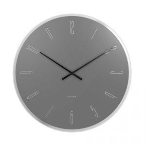 Karlsson 5800GY 40cm nástěnné hodiny - Barvašedá-
