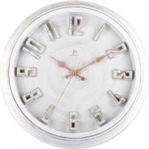 Lowell 00825B Designové nástěnné hodiny pr. 40 cm - Barvabílá-