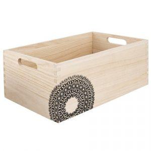 Bedýnka dřevo MANDALA 31x21x13 cm - -