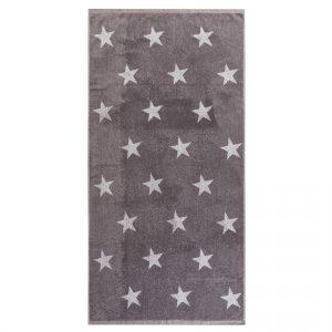 JAHU Osuška Stars šedá - Velikost70 x 140 cm- Barva šedá