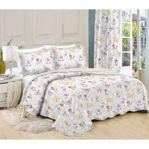 Přehoz na postel Květiny